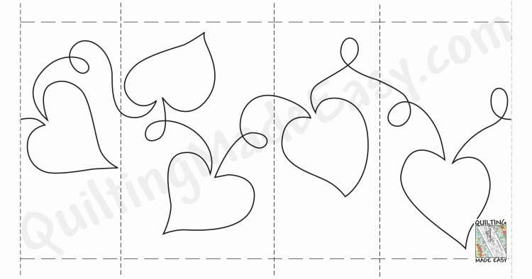 Free Heart Quilting Stencils : Quilting on a Roll - Quilting Made Easy